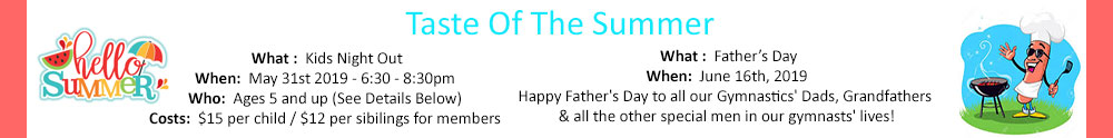 Summer & Father's Day